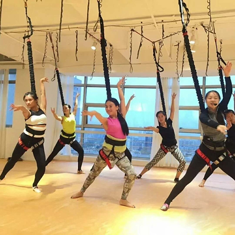 35 115KG Gravity Yoga Bungee Dance Workout Trainer Gym Fitness Equipment Resistance Band Training By DHL
