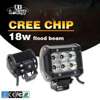 CO LIGHT 2Pcs 4inch Led Light Bar 18W Led Work Lamp Near Far Spot Flood Light