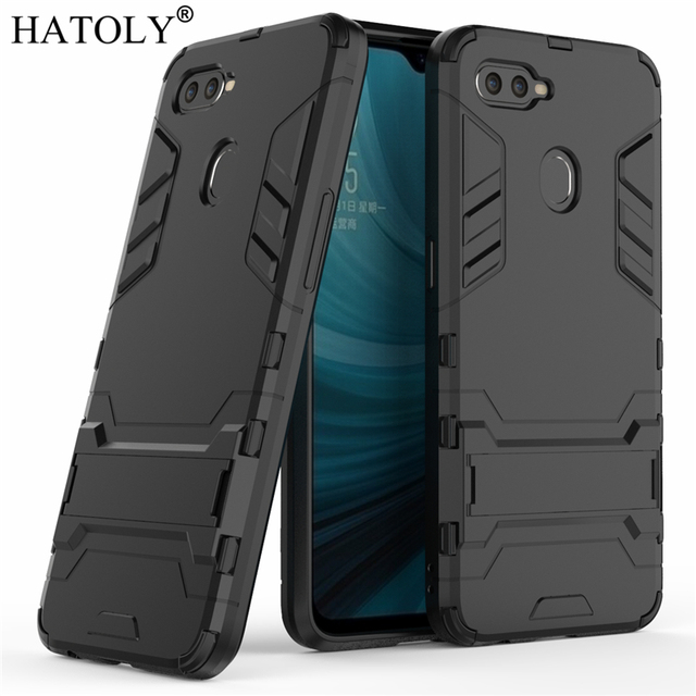 HATOLY For Armor Case OPPO AX7 Case Shockproof Robot Silicone Rubber Hard Back Phone Cover For OPPO AX7 AX7 Pro CPH1893 CPH1901