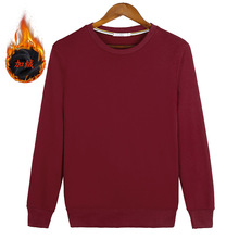 Woman Girl Plus Size S-8XL Velvet Sweatshirts Wine Red Black Gray White Navy Blue Solid Pure Color couple clothes ZIIART