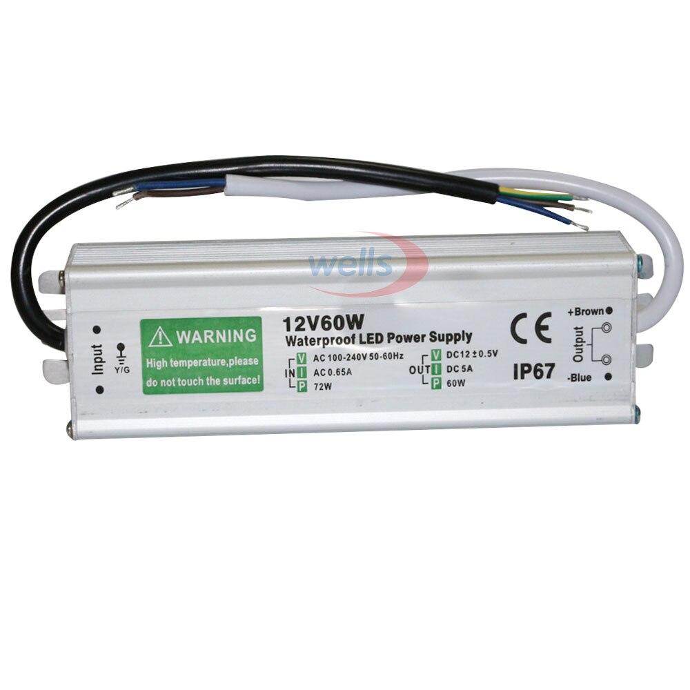 Transformadores de Iluminação w 50 w 60 w Modelo Número : Dc12v 24v Waterproof Power