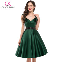 2016 Womens Party Dresses Summer Style 50s 60s Vintage Cocktail Dress Plus Size Robe Rockabilly Ladies