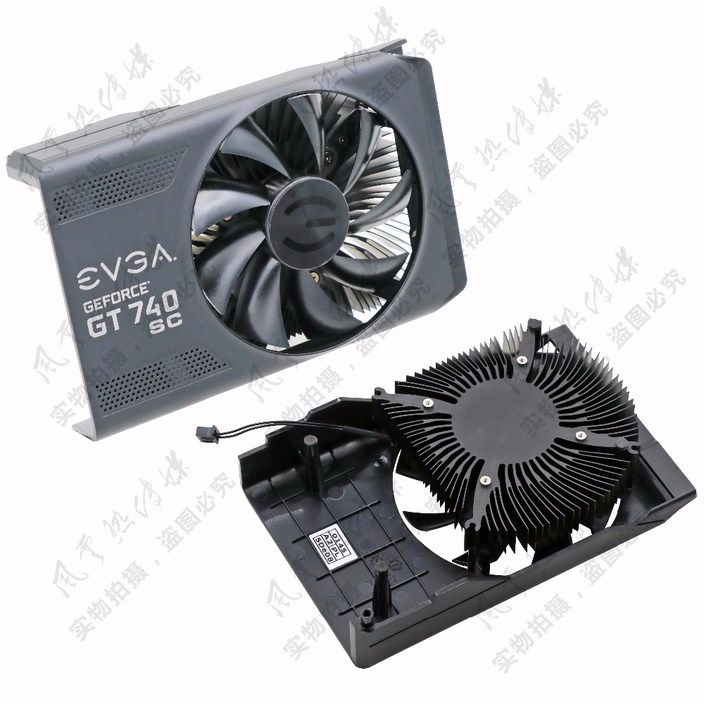 New Original for EVGA GEFORCE GT740 SC Graphics card cooler fan 4pin mgt8012yr w20 graphics card fan vga cooler for xfx gts250 gs 250x ydf5 gts260 video card cooling