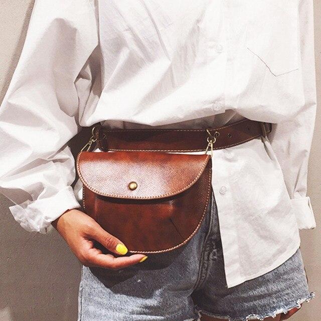 Multi-use Women Leather Belt Bag Phone Pouch Fanny Pack Luxury Brand Female Waist Pack Heuptas Pochete Women Waist Bag