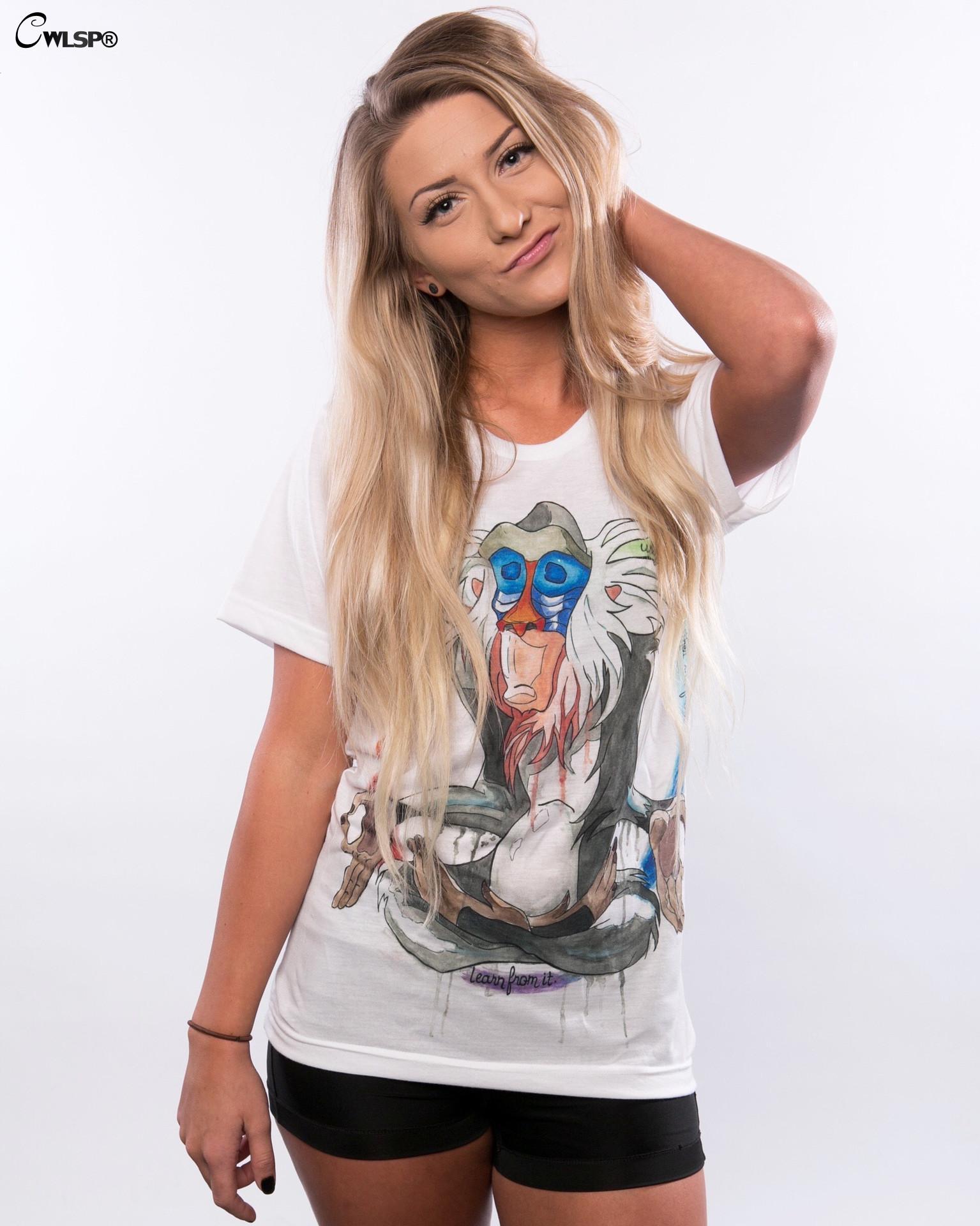 HTB1Ze7gKXXXXXaZXFXXq6xXFXXXU - Summer Colorful Printed T shirt Women Fashion Letter Short Sleeve