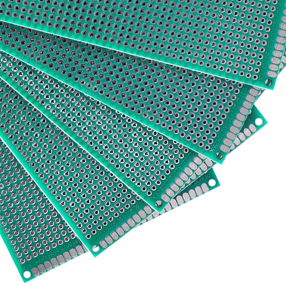 5pcs 812cm Prototype Breadboard Double Side Universal Printed Diy High Quality 2pcs Circuit Panel Board Pcb For Arduino 15mm 254mm Glass Fiber Nbp002 In Single Sided From