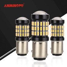 ANMINGPU 2x P21/5 Вт светодио дный лампы автомобилей Сигнальные лампы 1157 светодио дный Canbus 60SMD 4014 BAY15D светодио дный Стоп Тормозная фонарь Авто лампы 6000 К белый