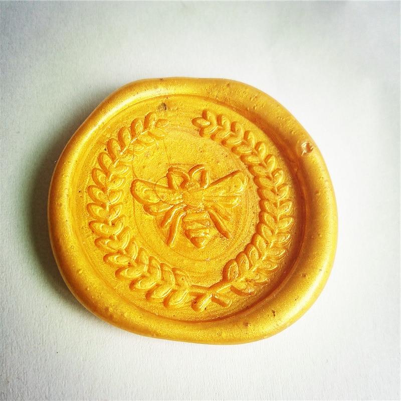 Wheat Honeybee Wax Seal Stamp Kit Bee Wedding Invitation Sealing Wax Stamp Kits Custom Wax Seal