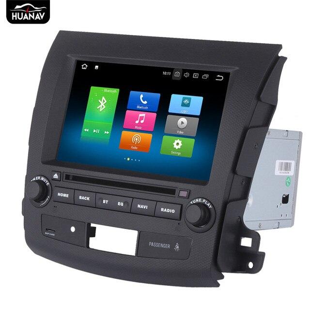 Android 8 araba DVD OYNATICI Mitsubishi Outlander için GPS navigasyon 2006-2012 Peugeot 4007 için otomatik stereo çalar multimedya Navi