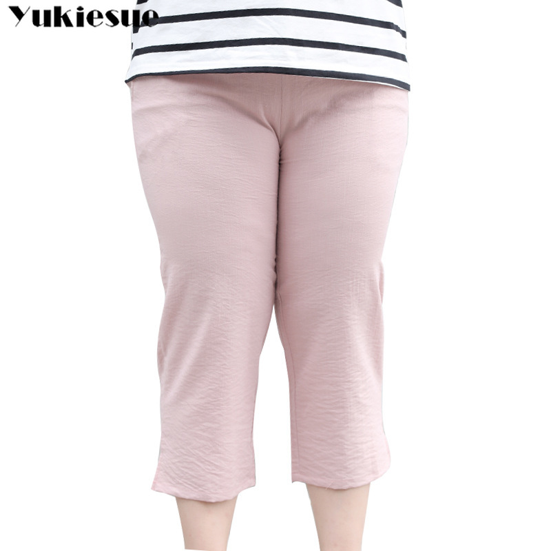 streetwear summer 2019 women's   pants   female high waist pencil   pants     capris   for women trousers woman Plus size 5xl 6xl 7xl