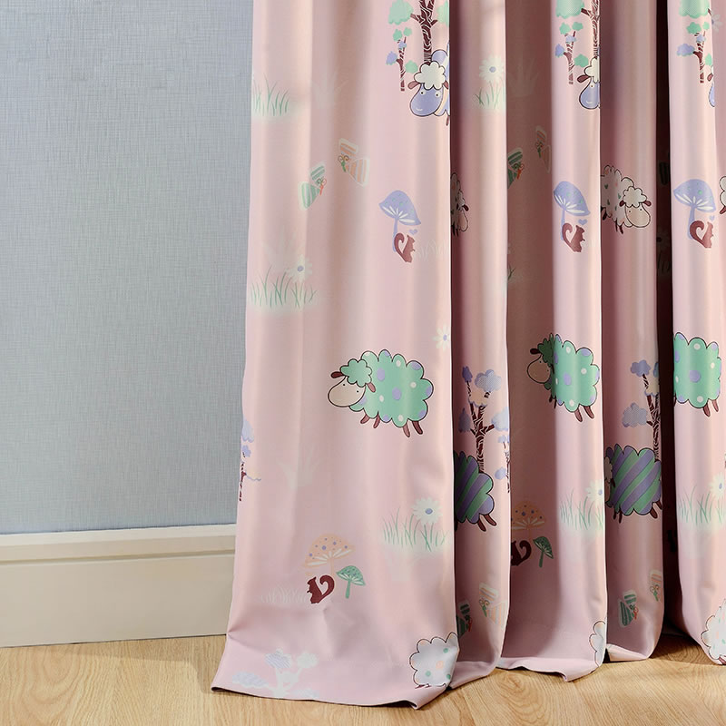Baby Nursery Curtains Pink Curtains Kids Curtains Pair: New Arrival Kids Curtains For Living Room Windows Pink