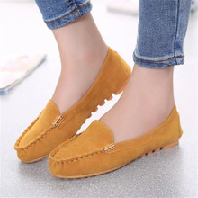 2016 Fashion women Flats shoes Flat Heel Candy Color Round Toe Slip On Loafer Comfort Shoes Casual Comfortable Hot Sale