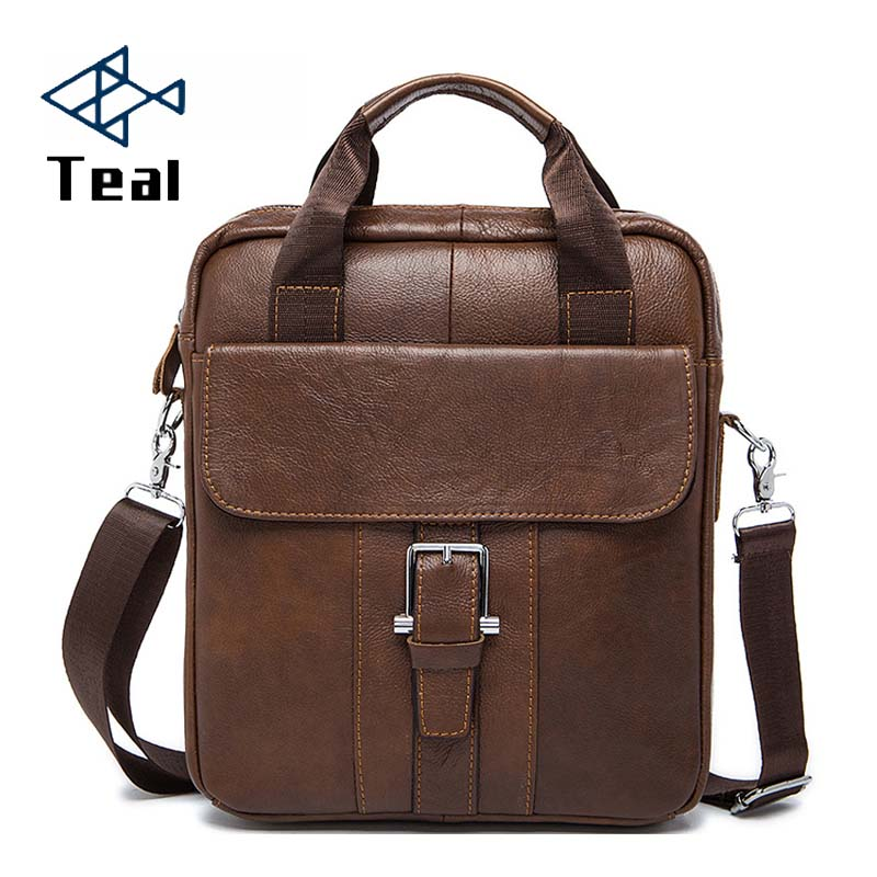 2020 Male Bags Casual Bag Men's Genuine Leather Designer Leather Business Bag Men's Bags Briefcase Handbags Vintage