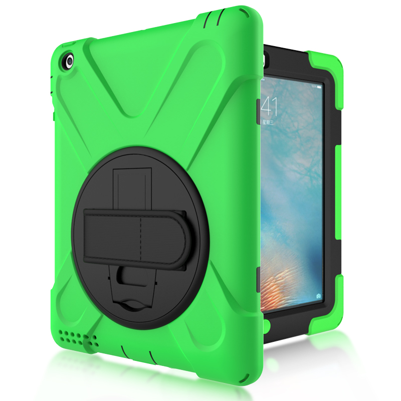 Shockproof case for ipad 2 3 4 360 rotation Heavy Duty PC Silicon Stand Armor Cases, Kids Safe Case for ipad 2 3 4 for apple ipad2 ipad3 ipad4 case kids safe armor shockproof heavy duty silicon pc stand back case cover for ipad 2 3 4 tablet pc