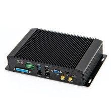 Mini ordenador Industrial sin ventilador con 6 * COM GPIO SIM Intel Dual Core i7 4500U i5 4200U más LPT HDMI VGA Dual LAN