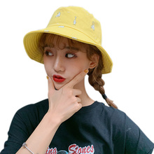 Women New Style Bucket Sun Hat Cute Sweet Cartoon Pattern Double Wear Sunscreen Flat Folding Bucket Hat chic rose and leaf pattern flat top black bucket hat for women