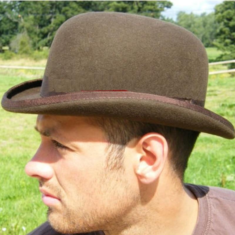 LIHUA Brand 100 wool Bowler Hat Cowboy Fashion Watherproof Equestrian cap Women Party Fashion Men s