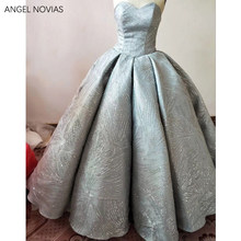 ANGEL NOVIAS Abendkleider 2018 Real Long Ball Gown Glitter Arabic Evening  Dress 2018 Dubai Formal Wedding Party Gowns 7a1ceda710ca