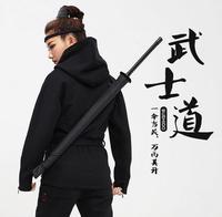 Automatic Pongee Rain Umbrella Katana Design Long Handle Umbrella The Japanese Samurai Swords Style Outdoor