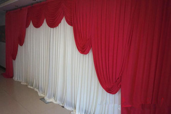 Cutomized Color New Romantic Wedding Backdrop with Swags Party Celebration Stage Wall Background Curtain CR-278