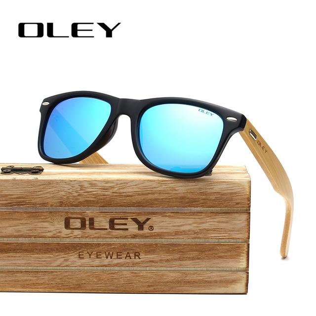 OLEY Bamboo Leg Polarized Sunglasses 4