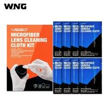 VSGO DDC-3 8 PCS Microfibra Pano de Limpeza de Lentes para Câmeras DSLR SLR Microscópio e Óculos