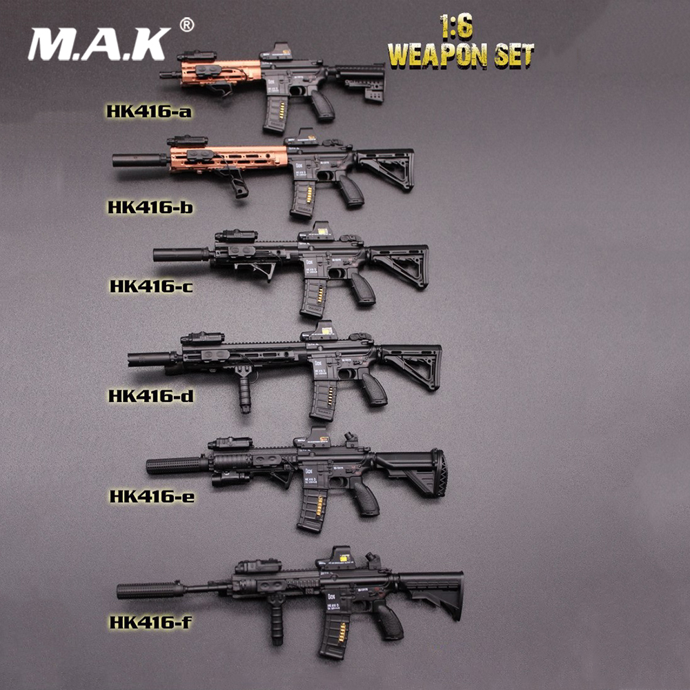 8 Styles 16cm Gun 1/6 Scale Figure Weapons Model Accessories HK416 & M4 Series Gun Model Toys For 12 Army Solider Action Figure 1 6 scale light machine weapons model wwii german maschinengewehr 34 gun model toys for 12 action figure body accessory