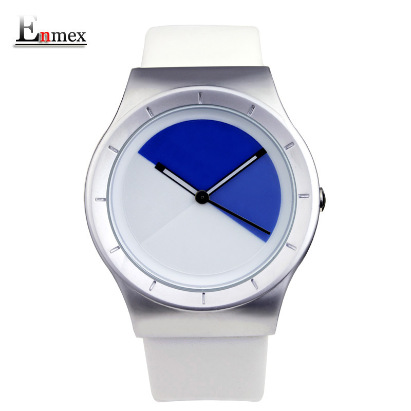 2017 new gift Enmex hit color steel frabic strap creative dial Changing patterns simple fashion for young peoples quartz watches 2017lady gift enmex design silicone strap creative changing patterns dail japanese style simple quietly elegant quartz watches