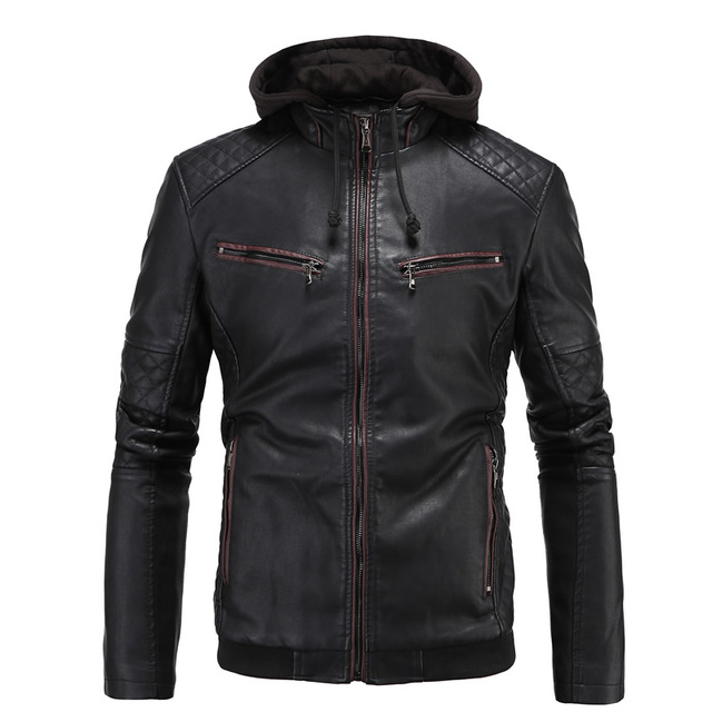 PU Plus Size Men Jacket leather jacket PU leather mens punk winter jacket jaqueta de couro jaqueta motoqueiro veste cuir homme
