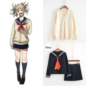 Image 2 - Cosplay Costume My Hero Academia Anime Cosplay Boku no Hero Academia Himiko Toga JK Uniform Women Sailor Suits with Sweaters
