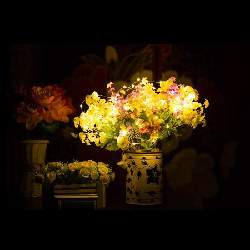 10 հատ LED մարտկոցով շահագործվող պղնձե - Տոնական լուսավորություն - Լուսանկար 2