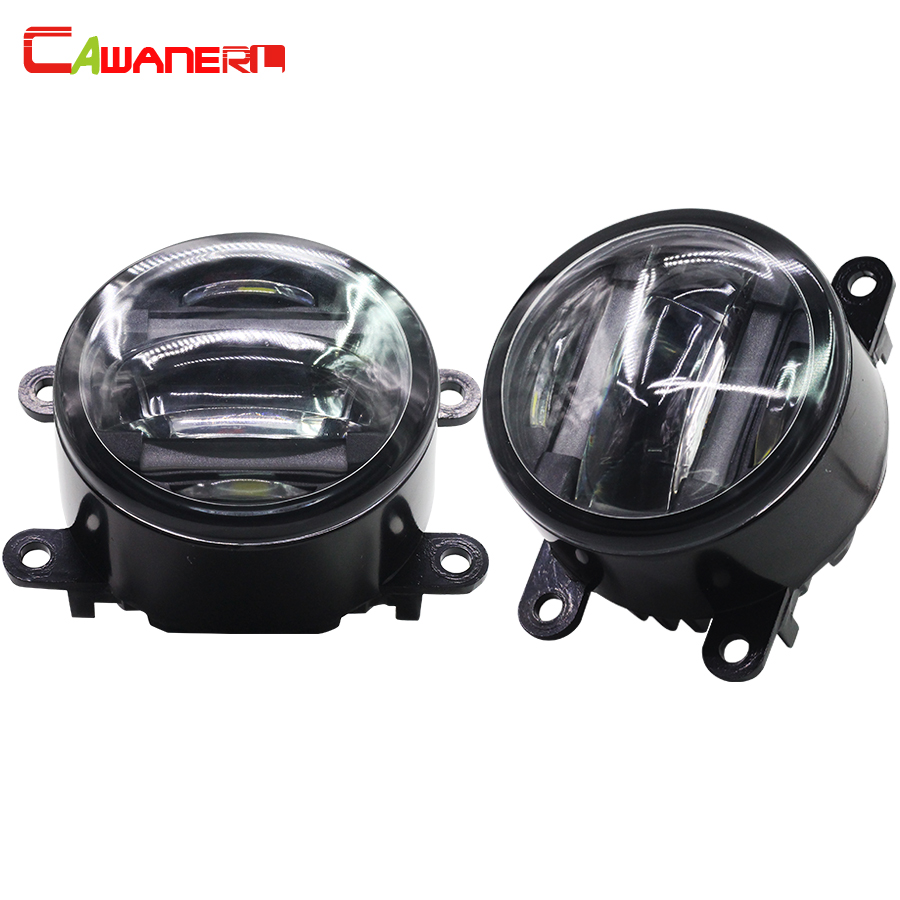 Cawanerl 2 X Car Light Source Fog Light LED DRL Daytime Running Lamp For Nissan Interstra Pathfinder Frontier Navara Note Sentra cawanerl 2 x car led fog light drl daytime running lamp accessories for nissan note e11 mpv 2006