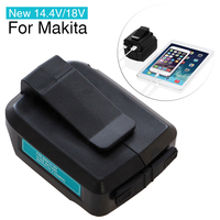 New 14 4V 18V USB Lithium Ion Cordless Power Source For Makita ADP05 Charger Adapter Converter