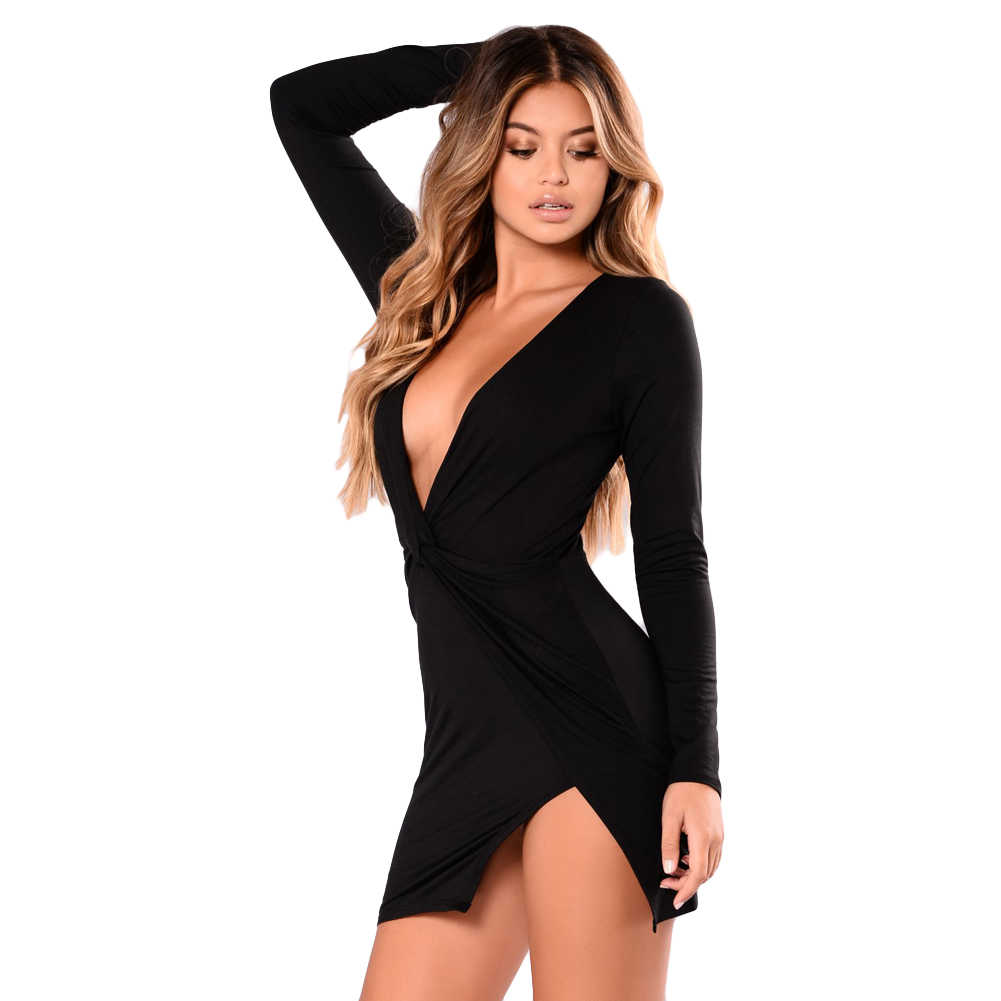 eeb4ee40a5f5c Detail Feedback Questions about Sexy Long Sleeve Dress Bodycon Women ...
