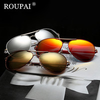 ROUPAI Brand Design 2017 Luxury Sunglasses Women Colorful Polarized Sunglasses Female Coating Sun Glasses Oculos Retro