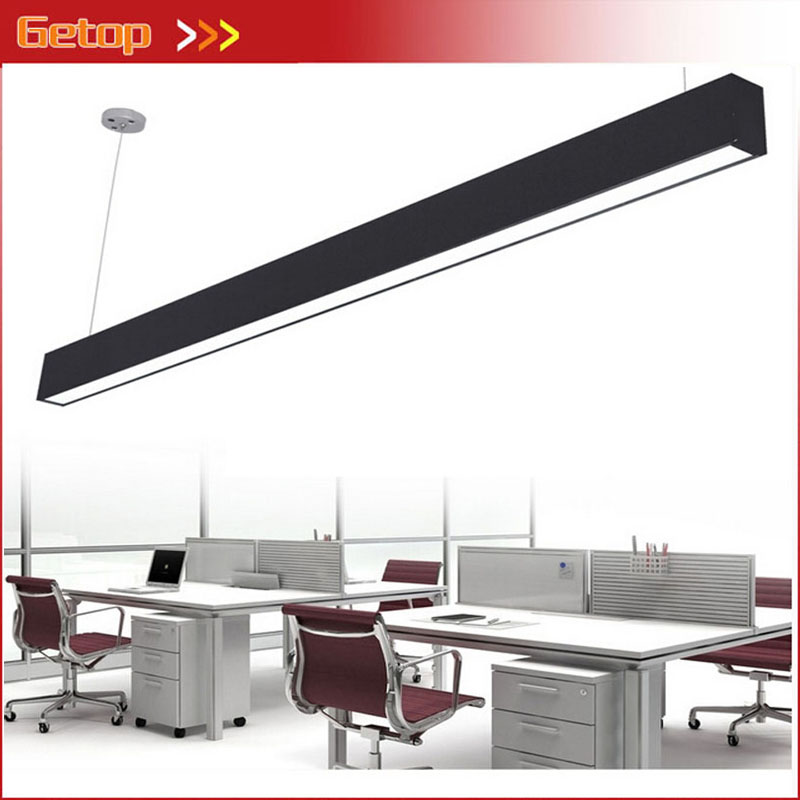 Modern Aluminum LED Pendant Lamp Engineering Hanging Wire Strip Light Fixture for Office Conference Room Study Lamp zx modern aluminum led chip pendant lamp engineering hanging wire strip light fixture for office conference room study lamp
