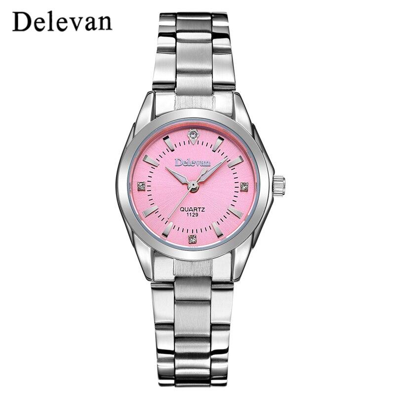 DELEVAN Women's Casual Waterproof Watch 5