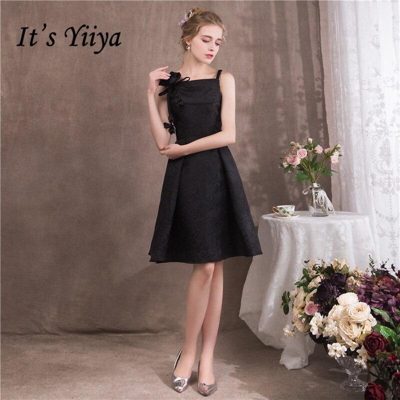 Это YiiYa 2018 без рукавов Blak коктейльные платья Известный дизайнер Цветы Вышивка Узор Простой маленький Платье черного цвета NX084