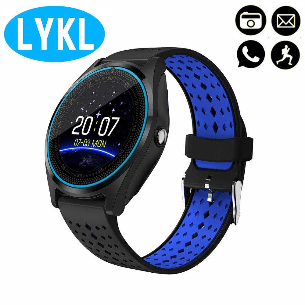 LYKL V9 Smart Uhr Unterstützung Kamera Bluetooth Smartwatch SIM Karte Armbanduhr für Männer Frauen Kinder Tragbare Geräte PK DZ09 GT08