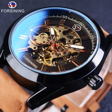 Forsining 2017 Casual Sport Series Waterproof Automatic Men Wrist Watch Top Brand Luxury Mechanical Transparent Skeleton Watches