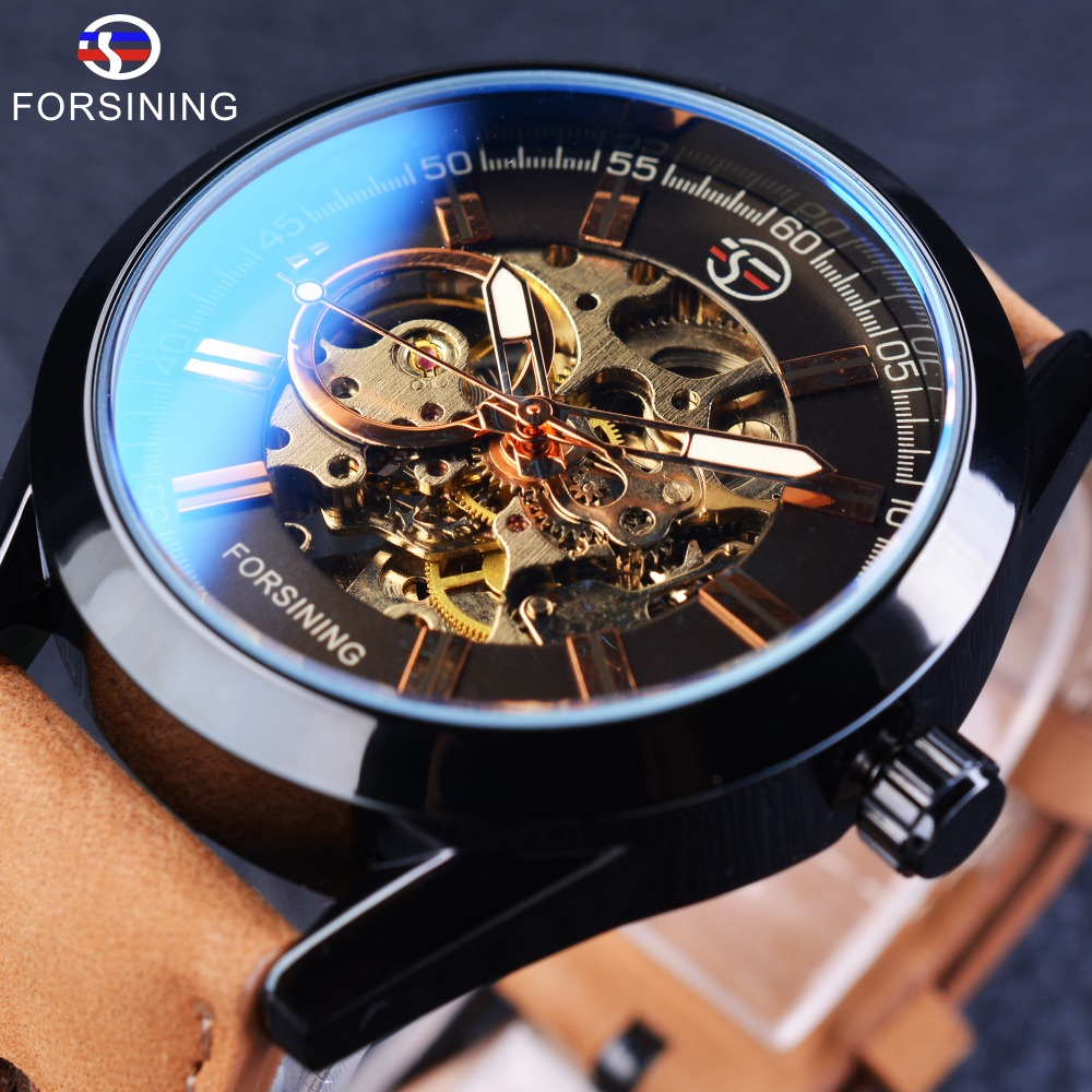 Forsining 2017 Casual Sport Series Waterproof Automatic Men Wrist Watch Top Brand Luxury Mechanical Military Skeleton Watches
