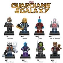מכירה אחת שומרי גלקסי 2 כוכב אדון Gamora Drax רקטות תינוק Yondu עיישה הערפילית תואם עם לגו דמות