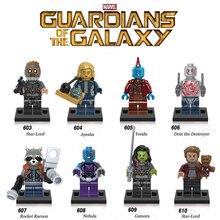 Vente unique gardiens de la galaxie 2 étoiles seigneur Gamora Drax fusée bébé Yondu Ayesha nébuleuse Compatible avec figurine Lego