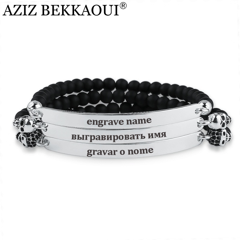 aziz bekkaoui onyx beads charm bracelets for women men. Black Bedroom Furniture Sets. Home Design Ideas