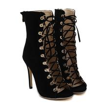 Sexy Chains Rope Sandals Strappy High Heel Gladiator Sandals Women Lace Up Ankle Strap Women Shoes Dress Shoes