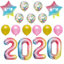 1set 40inch 2020 Balloons Gold Silver Number Foil Helium Baloons Merry Christmas happy New Year party Decoration Selling Gift
