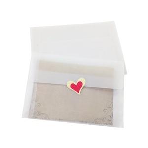 Image 5 - 50 sztuk/partia nowa Korea Vintage puste przezroczyste koperty vellum DIY wielofunkcyjny ovely prezent