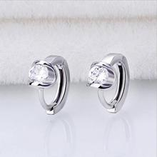 Everoyal New Arrival Lady Silver 925 Hoop Earrings For Women Accessories Exquisite Crystal Round Earring Female Hot