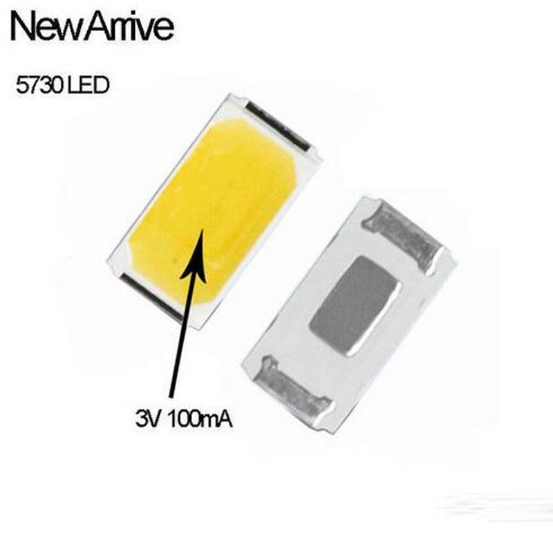 100pcs 5730 0.3W-100Ma 50-65lm 4000-4500K White Light SMD 5730 Bigger Chip LED 5730 Diodes (3.2~3.4V)