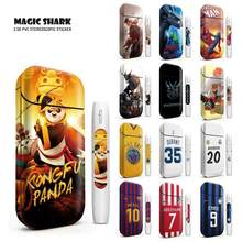 Magic Shark Messi The Bay Transformers Naruto Spiderman Kongfu Panda Sticker Film for IQOS 2.4 Plus Cover Skin Case Sticker(China)